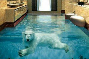 фото наливных полов с медведем