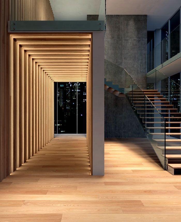 фото паркетная доска Тандем арка с лестницей