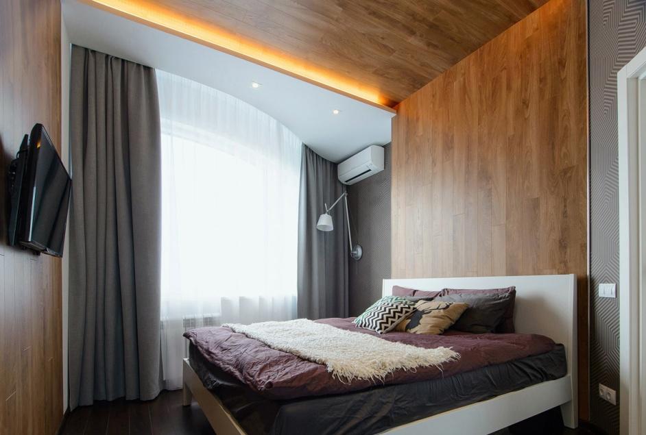 фото Ламинат на стене в гостинице